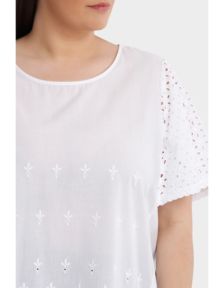 Broderie Solid Short Sleeve Top image 4