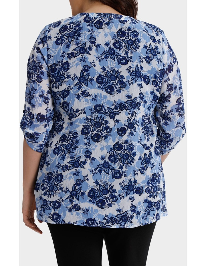 Chinoiserie Floral Layered 3/4 Sleeve Top image 3