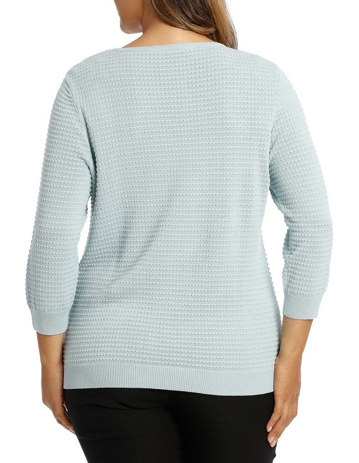 Must Have Circle Textured 3/4 Sleeve Jumper image 3