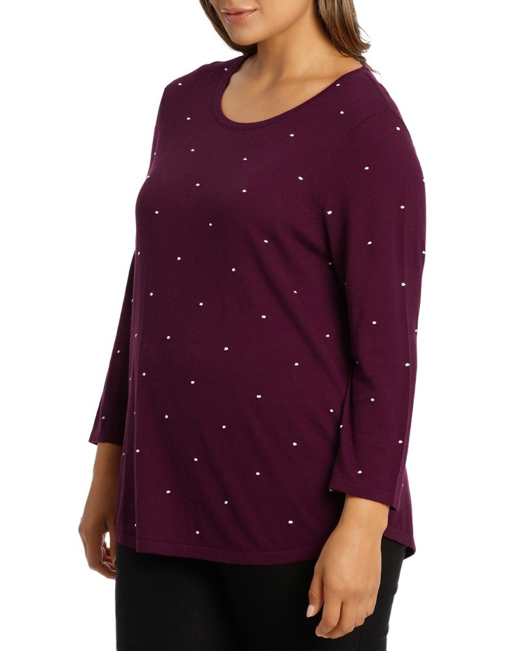 Must Have Contrast Spot Long Sleeve Jumper image 2