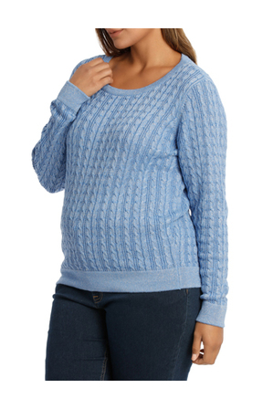 Regatta Woman - Must Have Metallic Cable Long Sleeve Jumper