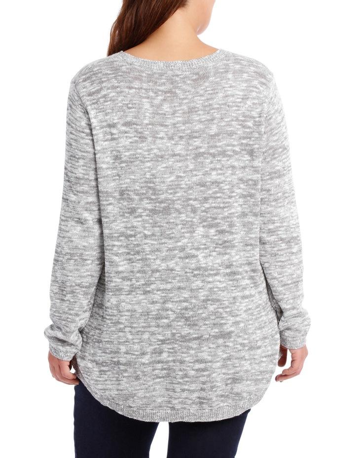 Snow Textured L/S  Jumper-Grey/White image 3