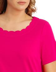 Regatta Woman - Solid Scallop Short Sleeve Tee