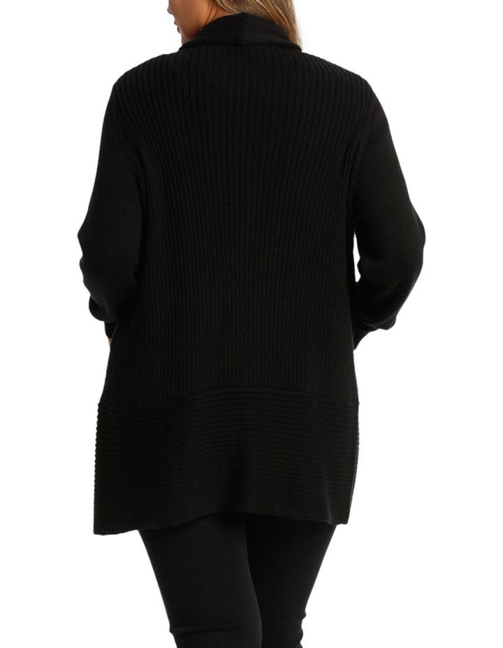 Curve Hem Long Sleeve  Cardigan image 3