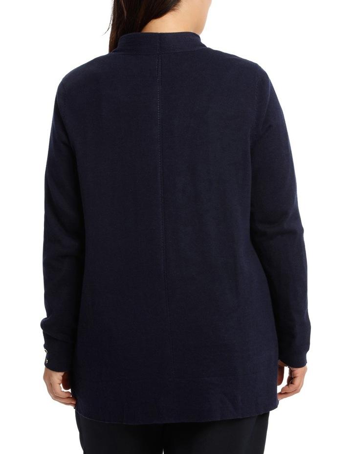 Long Sleeve Pointelle Seam Detail Cardigan image 3