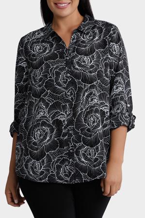 Regatta Woman - Rose Print 3/4 Sleeve Shirt
