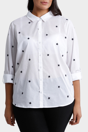 Regatta Woman - Starry Night Embroidered 3/4 Sleeve Shirt