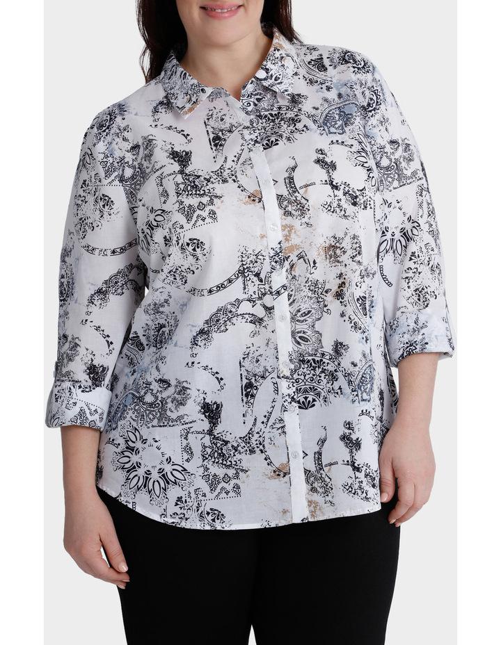 Faded Paisley 3/4 Sleeve Shirt image 1