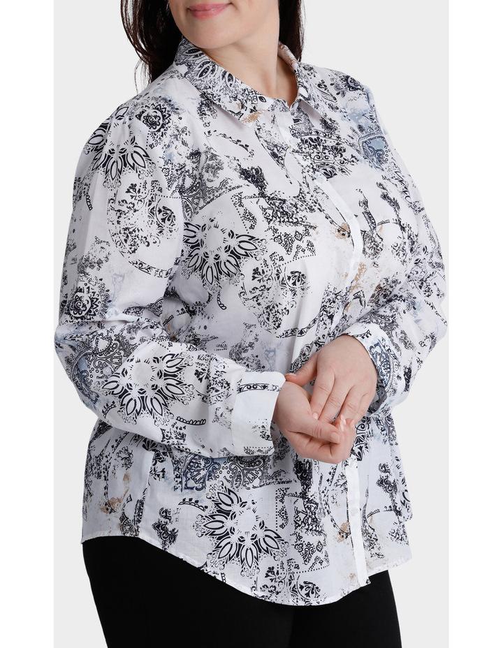 Faded Paisley 3/4 Sleeve Shirt image 2