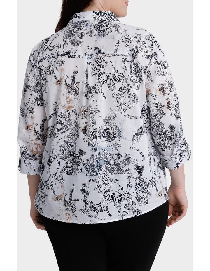 Faded Paisley 3/4 Sleeve Shirt image 3