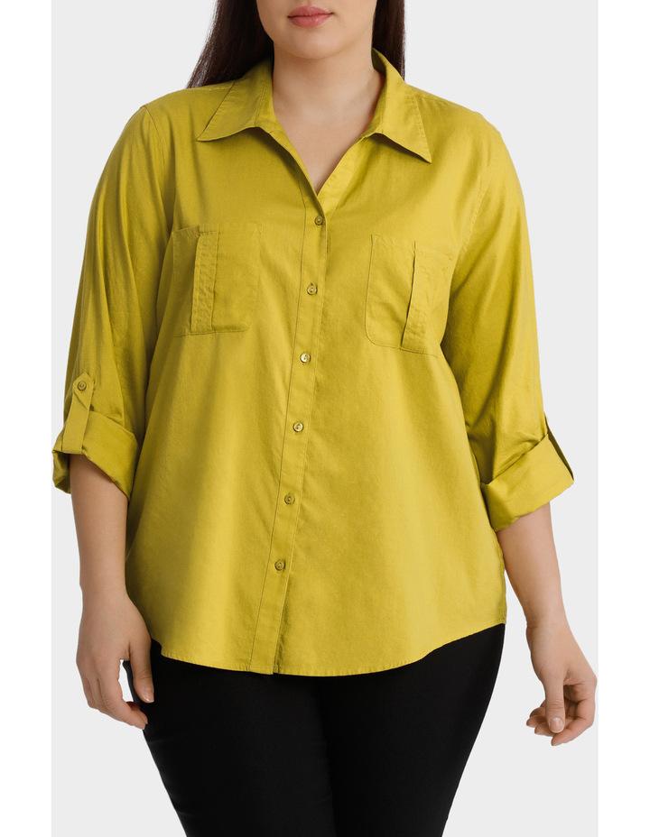 Cotton 3/4 Sleeve Shirt image 1