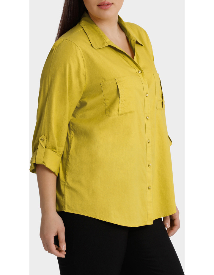 Cotton 3/4 Sleeve Shirt image 2