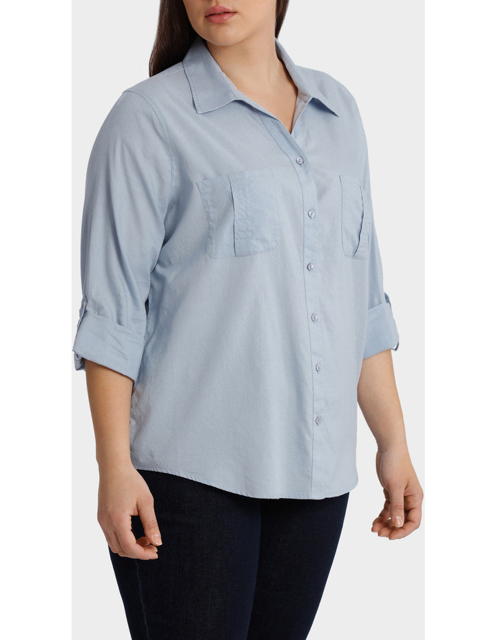 Cotton 3/4 Sleeve Shirt image 2