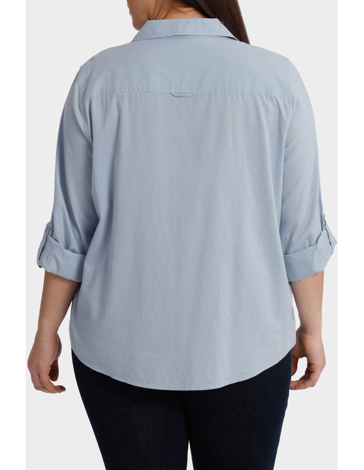 Cotton 3/4 Sleeve Shirt image 3