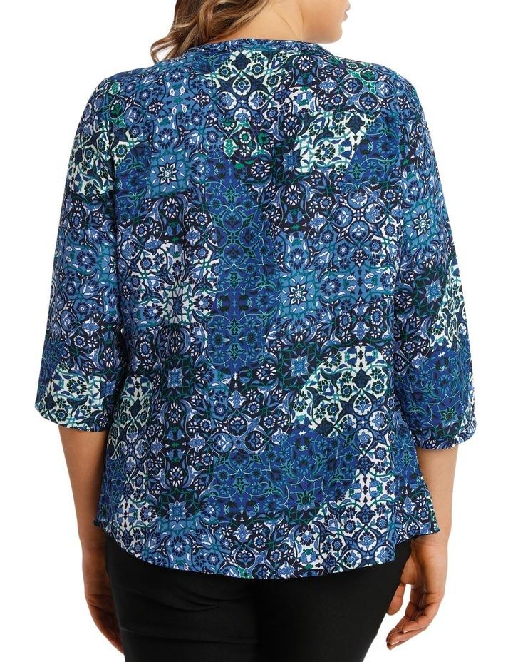 Tile Tuck Front 3/4 Sleeve Shirt image 3
