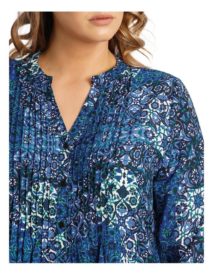 Tile Tuck Front 3/4 Sleeve Shirt image 4