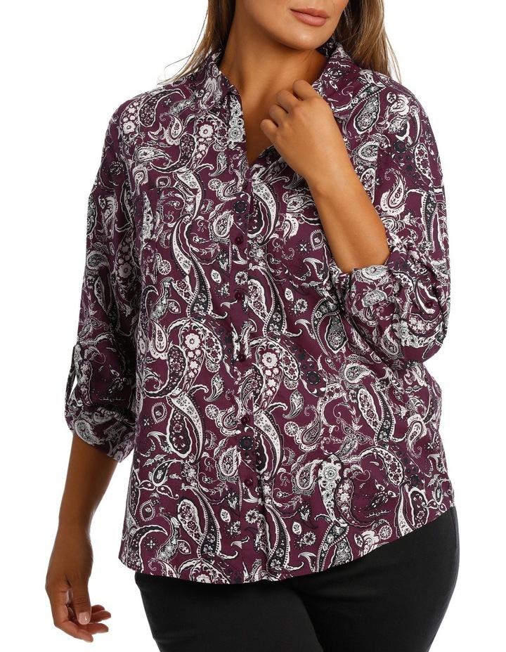 Rich Floral Cotton 3/4 Slv Shirt image 1