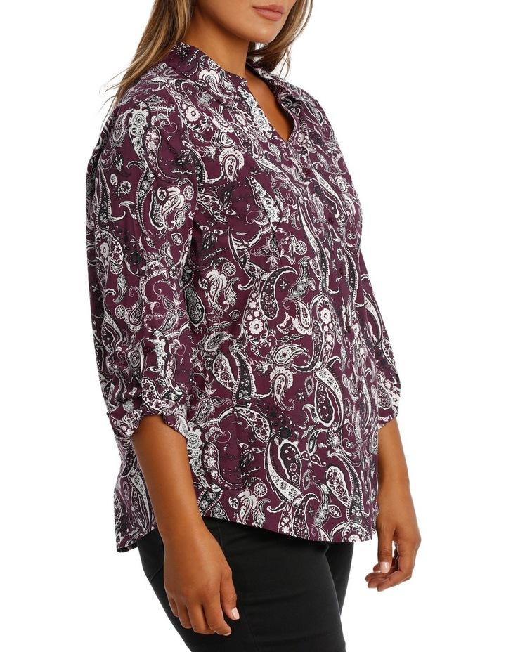 Rich Floral Cotton 3/4 Slv Shirt image 2
