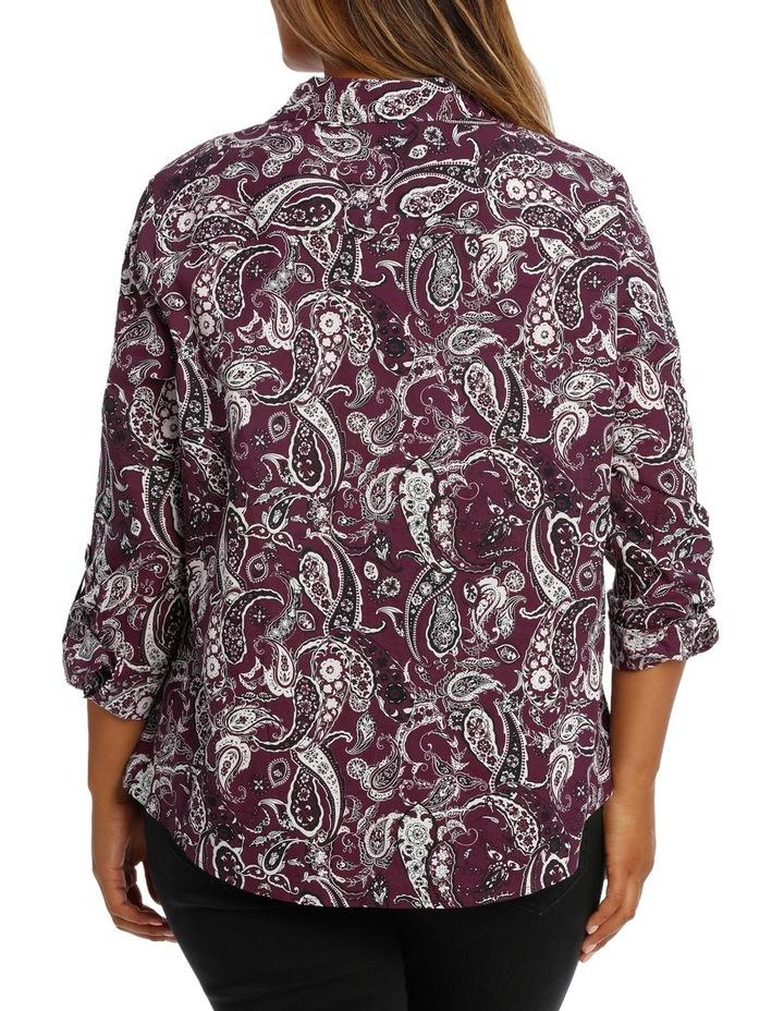 Rich Floral Cotton 3/4 Slv Shirt image 3