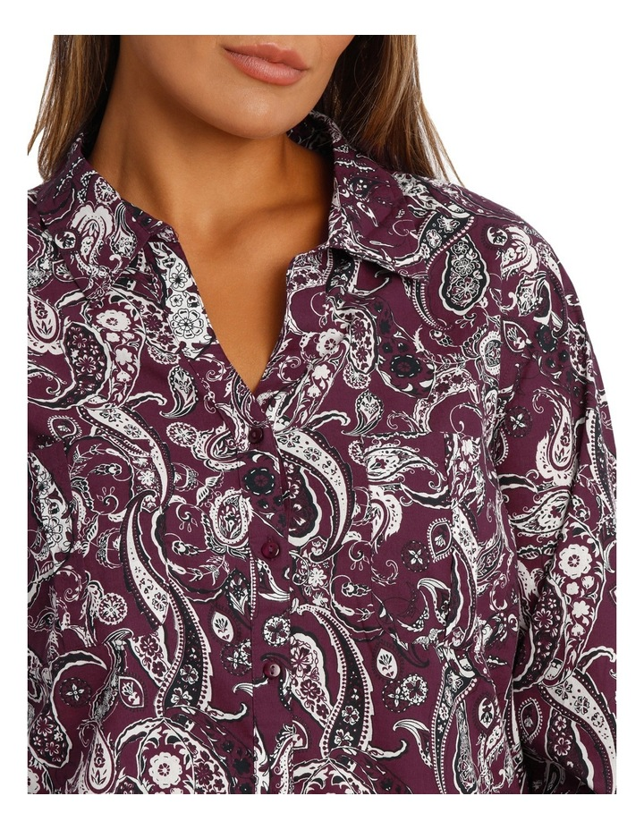 Rich Floral Cotton 3/4 Slv Shirt image 4