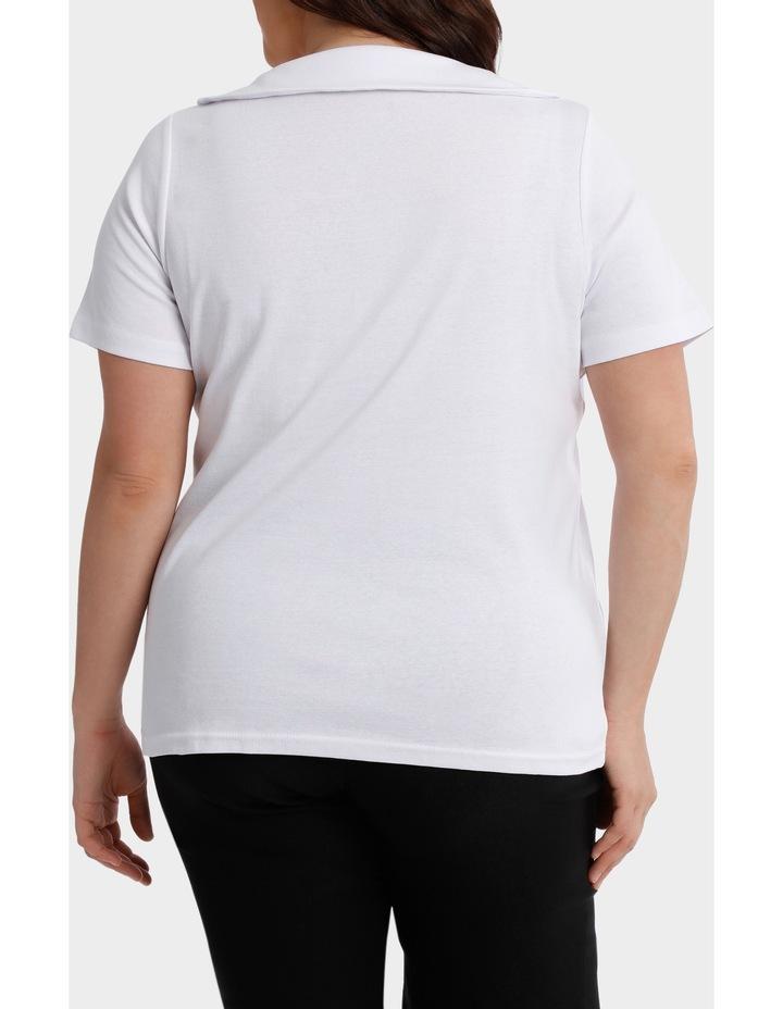 Essential Fold Neck Short Sleeve Tee image 3