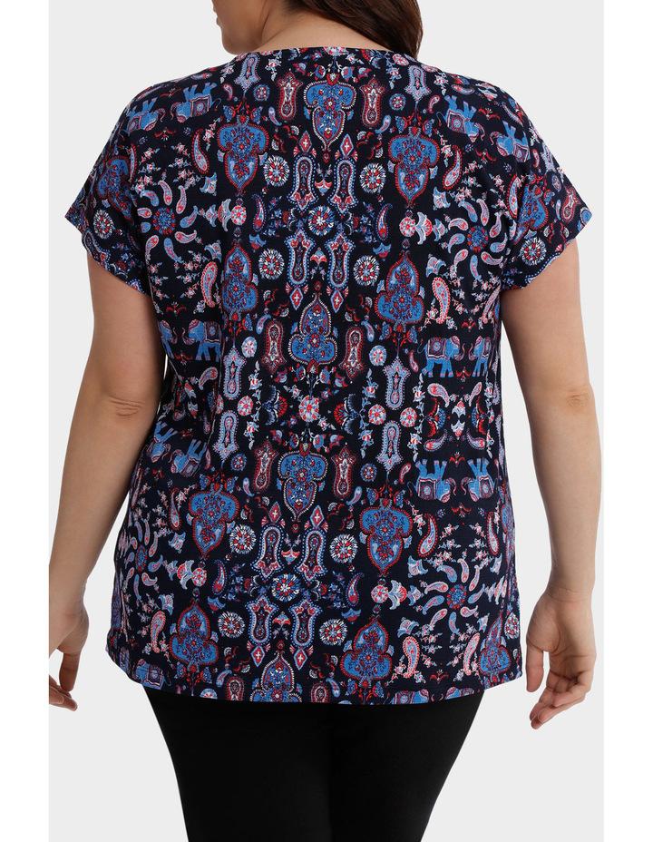 Contrast Paisley Short Sleeve Tee image 3