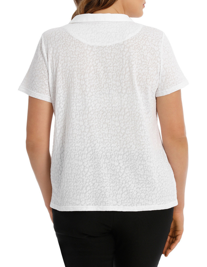 Textured Collar Short Sleeve Tee image 3
