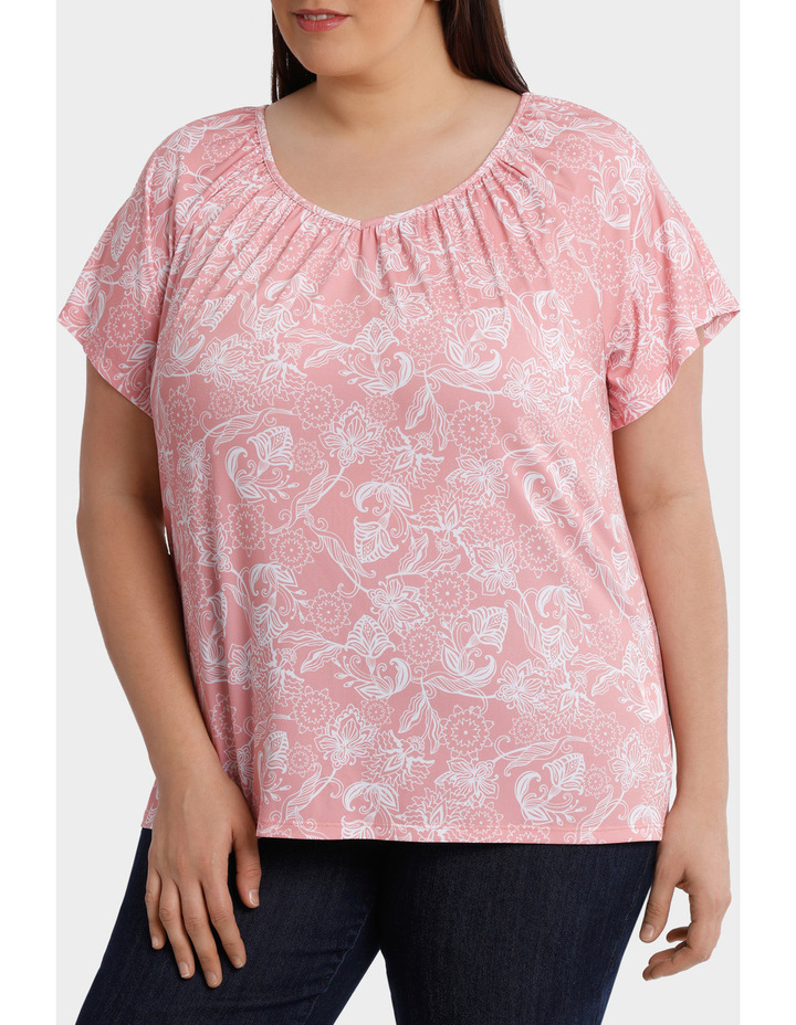 Hot Price Print Jersey Flutter Sleeve Tee image 1