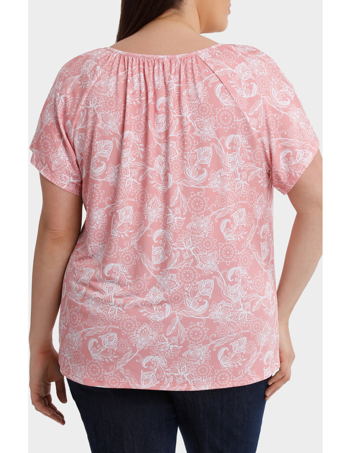 Hot Price Print Jersey Flutter Sleeve Tee image 3
