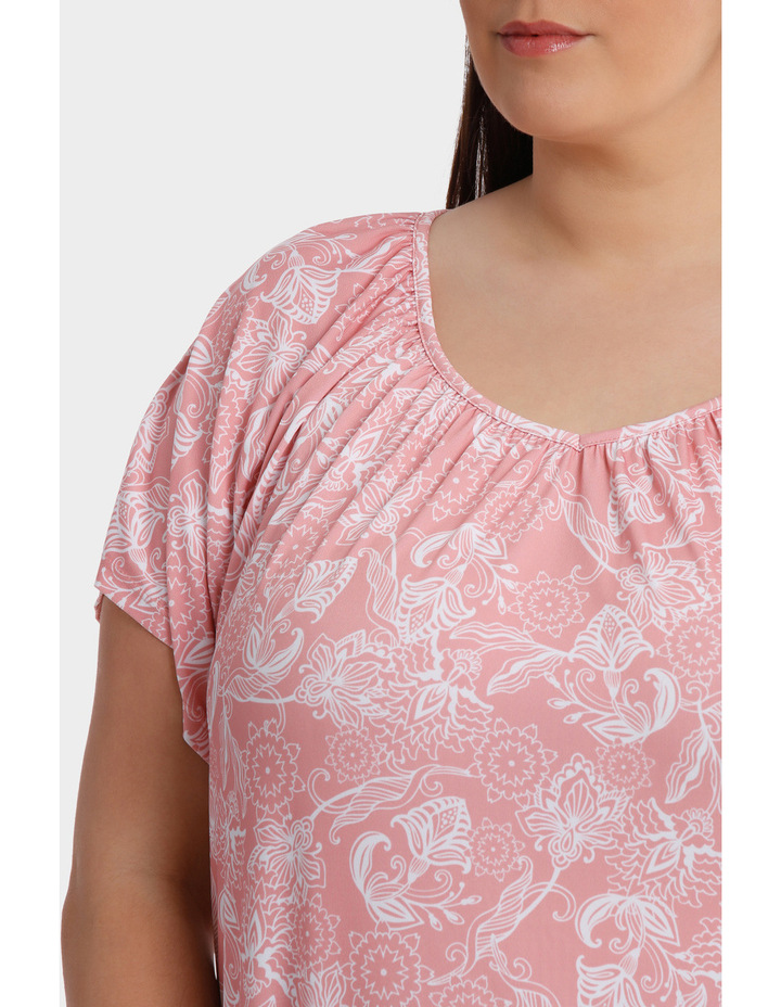 Hot Price Print Jersey Flutter Sleeve Tee image 4