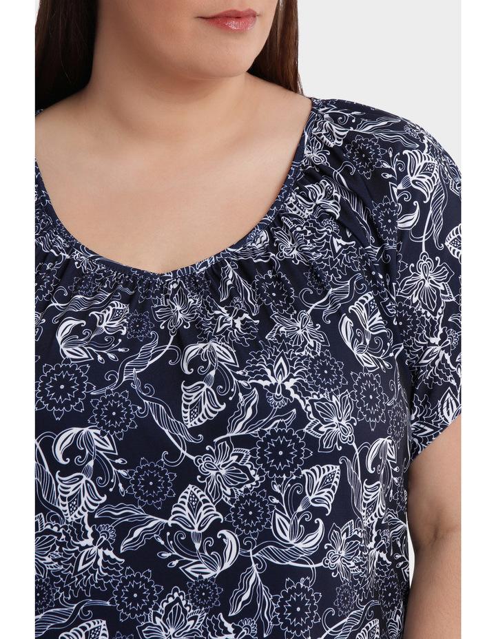 Hot Price Print Jersey Flutter Sleeve Tee image 4