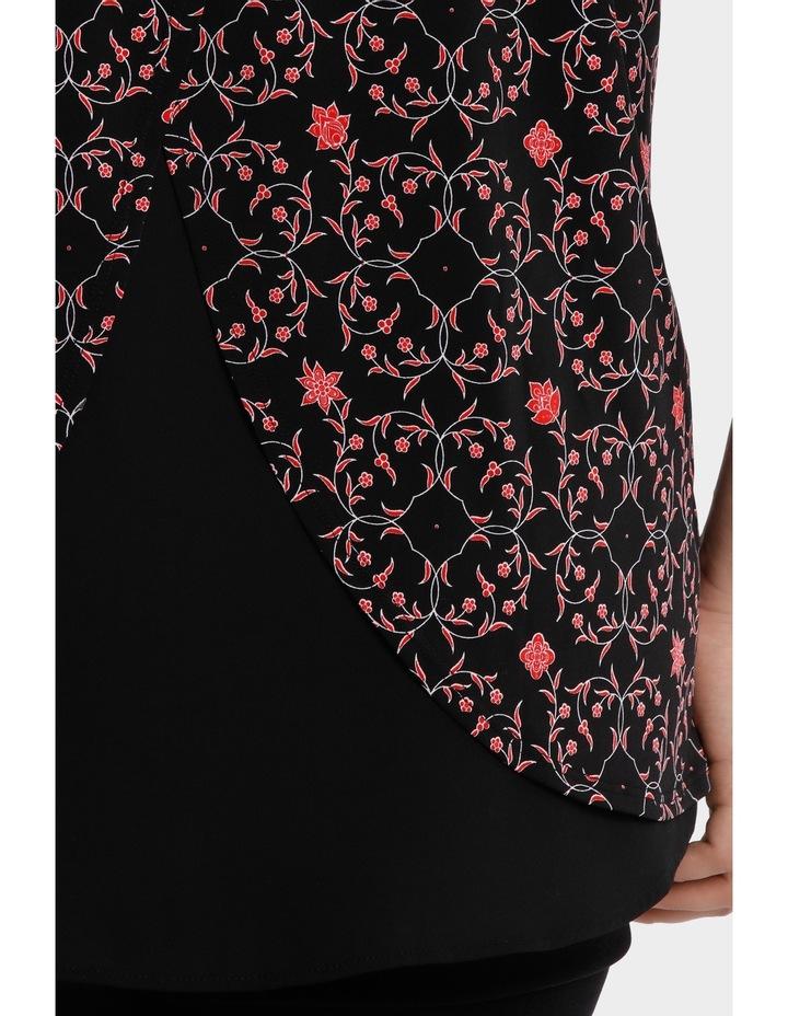 Print Chiffon Layer Tunic Short Sleeve Tee image 4
