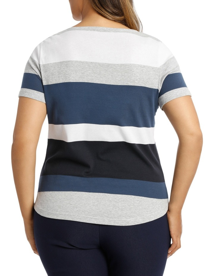 Coloured Stripe Rib S/Slv Tee image 3