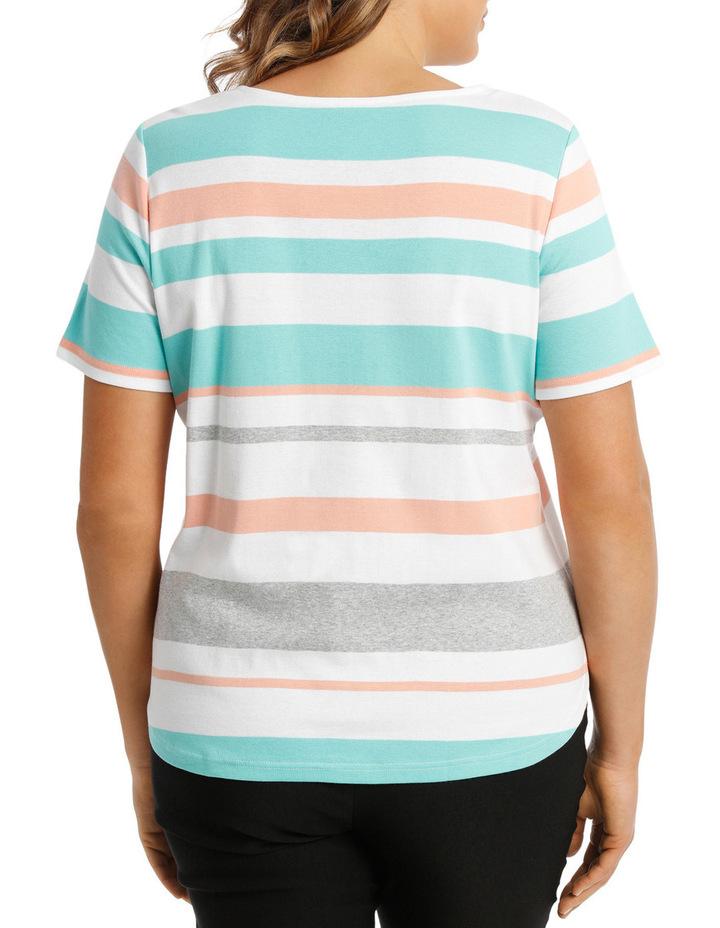 Tropical Stripe Rib Short Sleeve Tee image 3