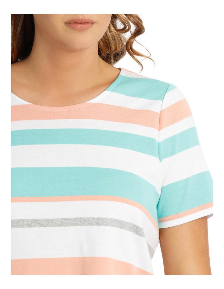Tropical Stripe Rib Short Sleeve Tee image 4