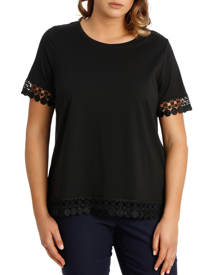 Lace Trim Tee image 1
