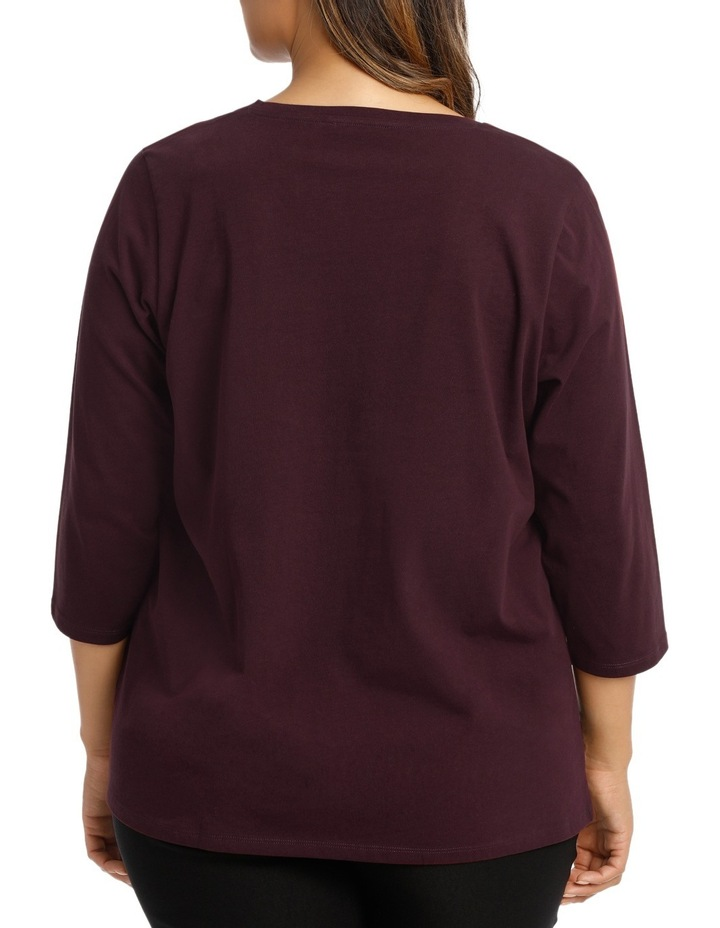 Essential Cotton 3/4 Sleeve Tee image 3