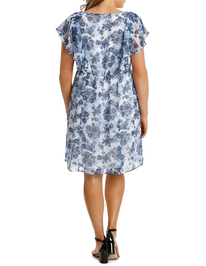 Chinoiserie Floral Flutter Sleeve Dress image 3