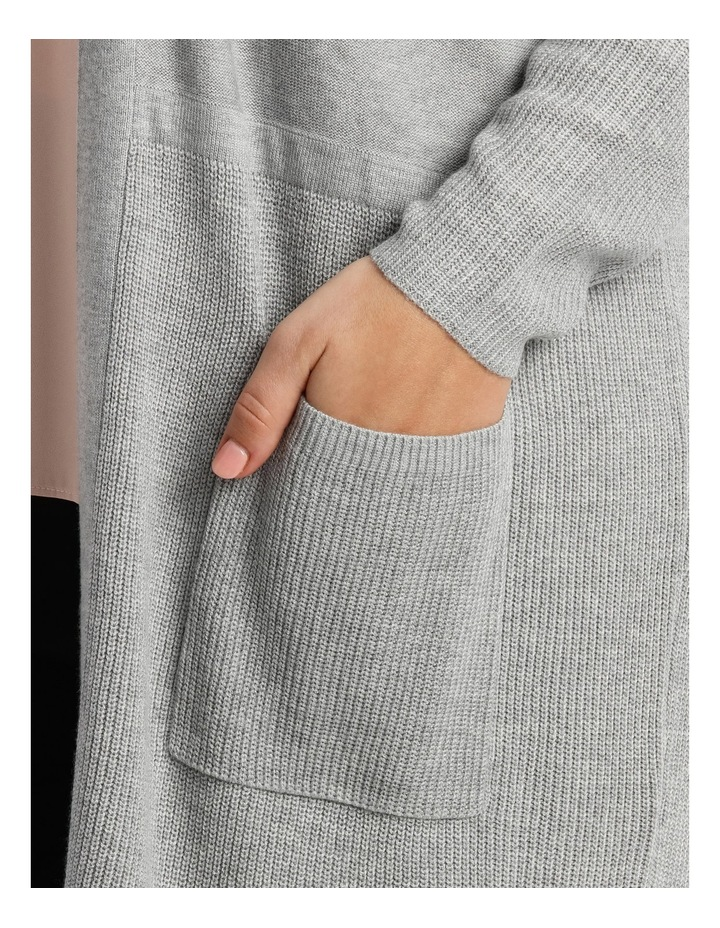 Spliced Rib Patch Pocket Cardigan image 4