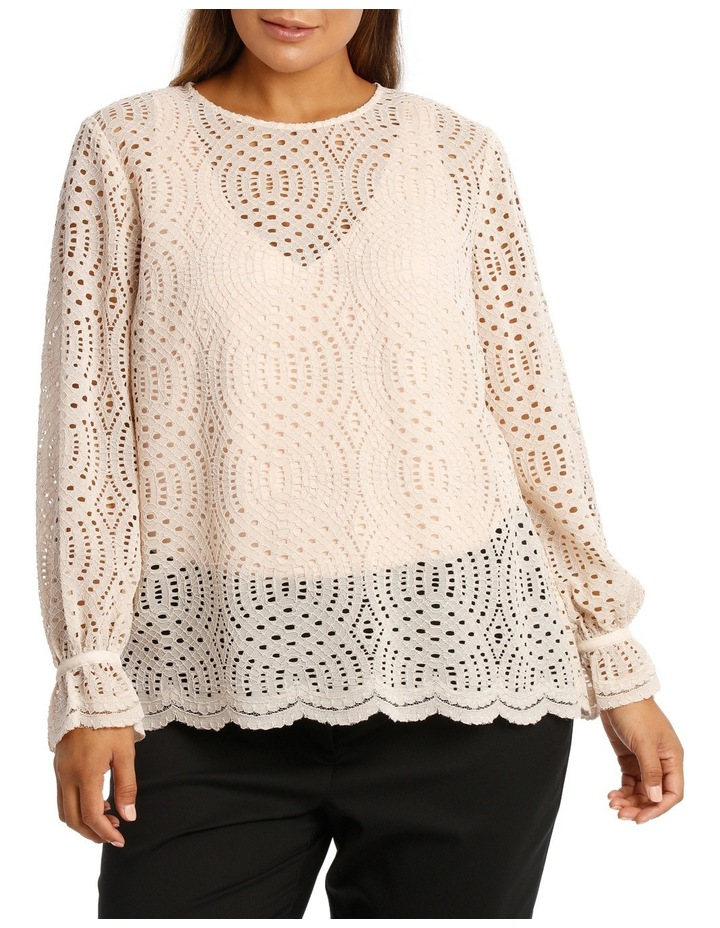 Corded Lace Scalloped Hem Top image 1