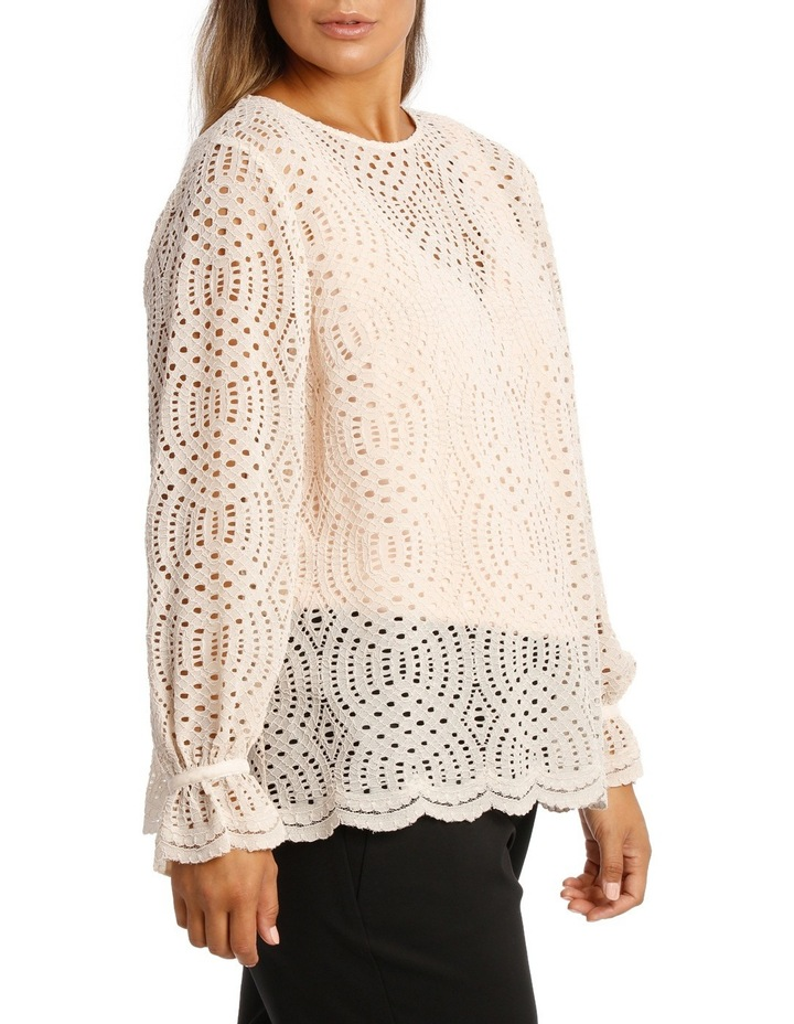 Corded Lace Scalloped Hem Top image 2