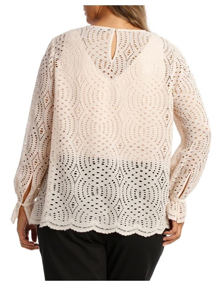 Corded Lace Scalloped Hem Top image 3