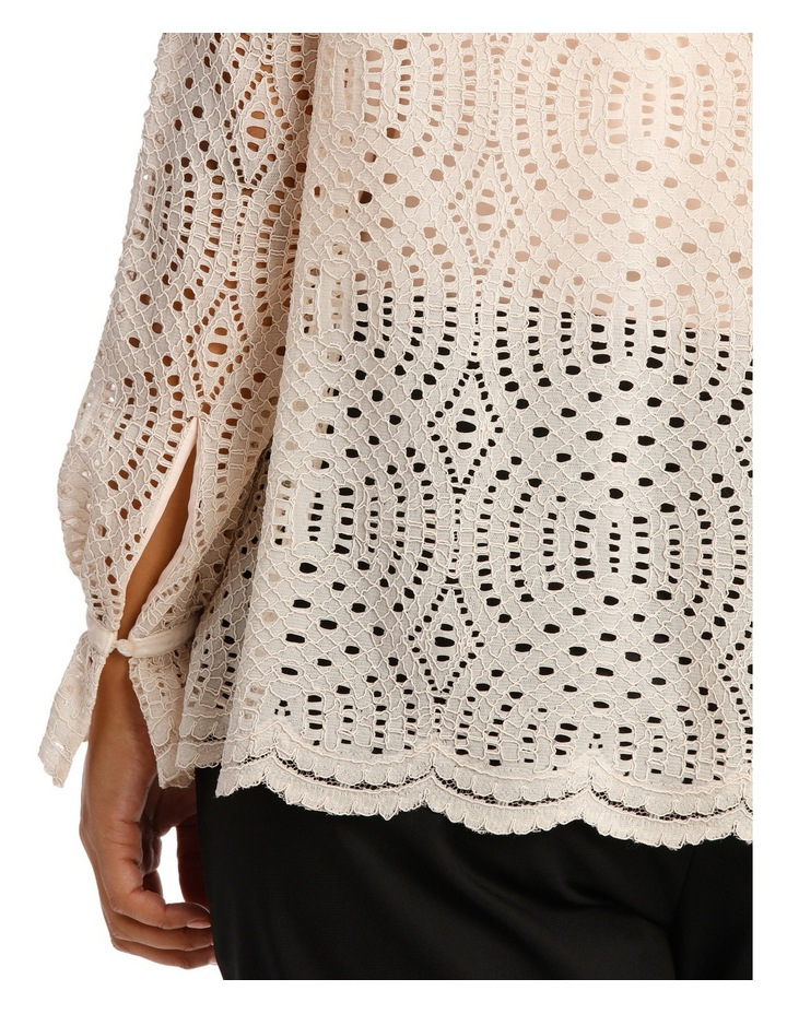 Corded Lace Scalloped Hem Top image 4