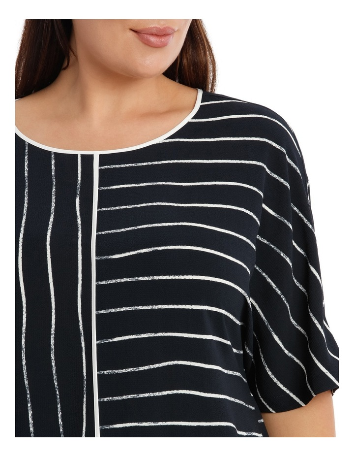 Piped Extended Sleeve Top Print image 4
