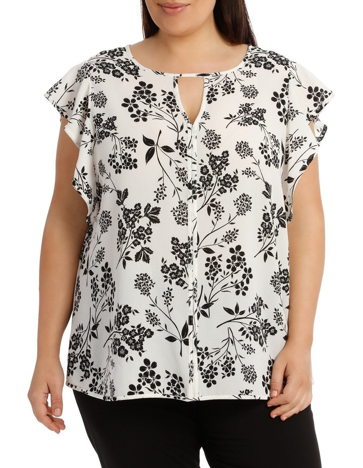 Must Have Crepe Frill Top Print image 1