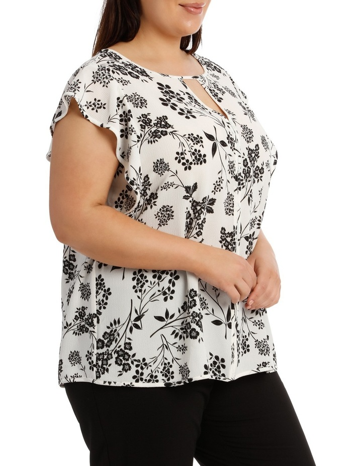 Must Have Crepe Frill Top Print image 2