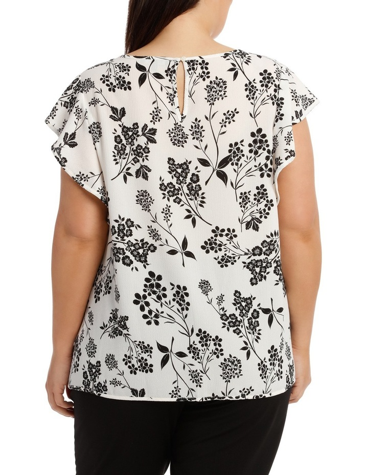 Must Have Crepe Frill Top Print image 3