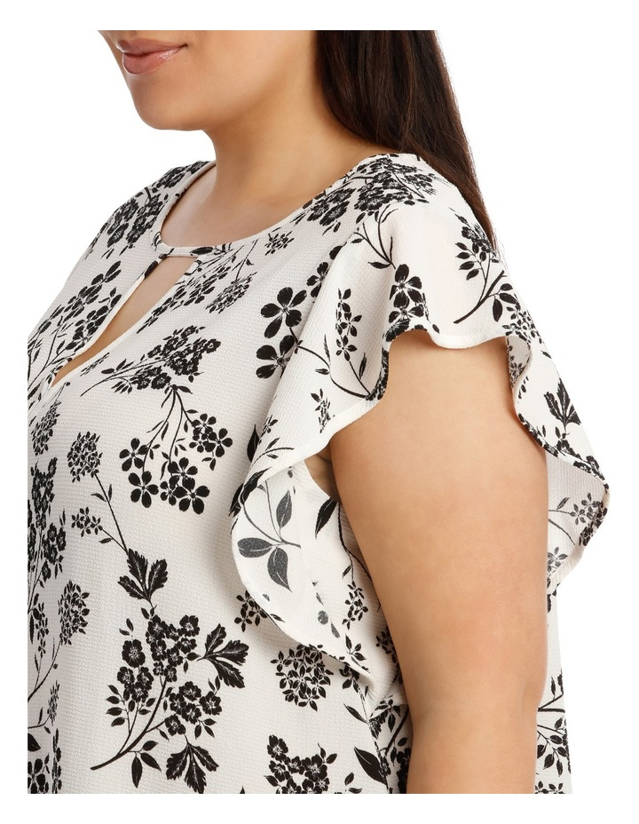 Must Have Crepe Frill Top Print image 4
