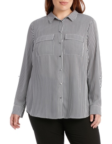 abc74617 Basque Woman Double Pocket Soft Shirt Print