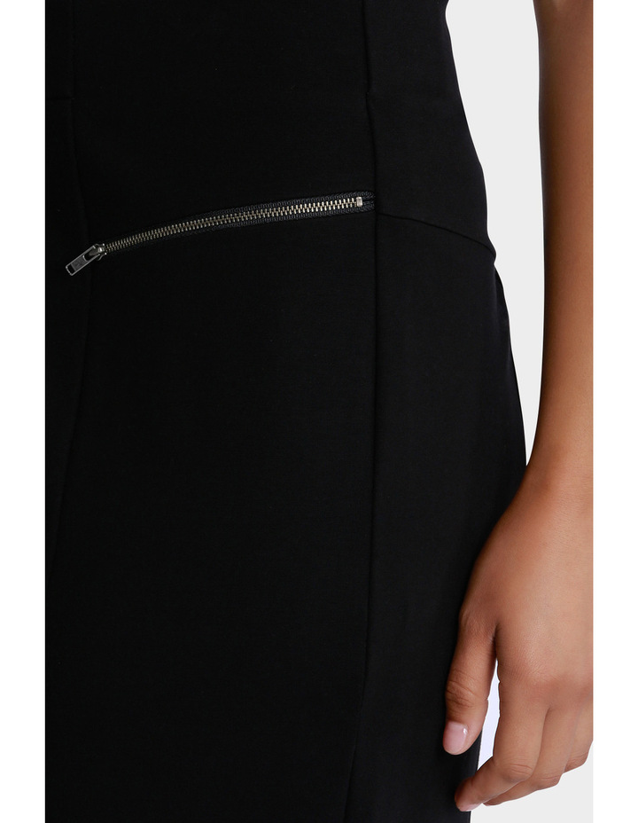 Zip Detail Ponte Pencil Skirt image 4